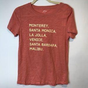NWT J.Crew Graphic T Shirt California Beaches